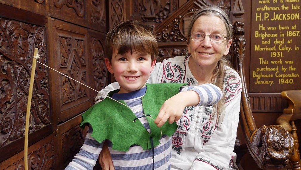 Barbara Green with Robin Hood